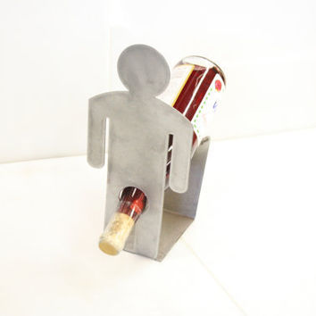 Man Single Bottle Wine Rack Holder Gag Item by DPIstore on Etsy