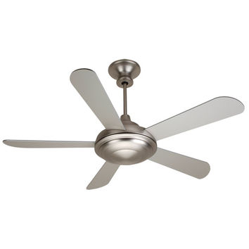 Craftmade K10770 Triumph Brushed Nickel Ceiling Fan with 52-Inch Custom Brushed Nickel Blades and Optional Blank Light Lens Cover