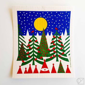 Swedish Dishcloth Full Moon Winter