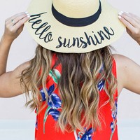 Hello Sunshine Straw Floppy Hat