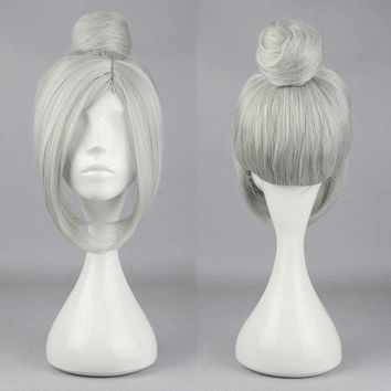 Charming Silver Grey Synthetic Fiber High Temperature Cosplay Wig Anime Costume Hair