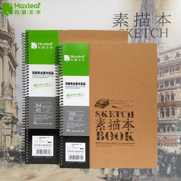 Vintage Sketchbooks A4 16K Drawing Book Illustration Sketching For Paiting Drawing Diary Journal Creative Notebook Art Supplies