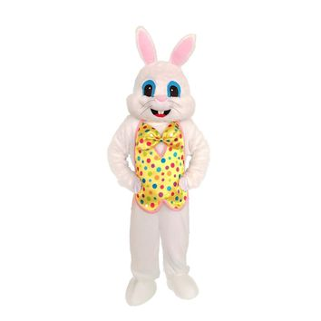 Adult Easter Rabbit Bunny Mascot Costume Easter Rabbit Dress Outfit