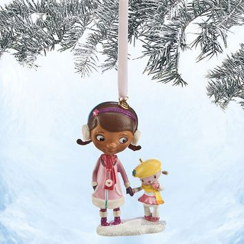 Licensed cool NEW DOC MCSTUFFINS AND LAMBIE DISNEY STORE 2014 SKETCHBOOK CHRISTMAS ORNAMENT