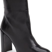 Stuart Weitzman Black Leather Pully Ankle Mid Booties Boots Size 7