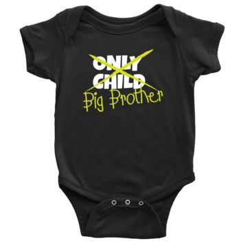 Only Child to Big Brother Baby Onesuit