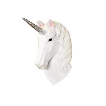 Mini Natural + Silver Unicorn Head