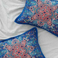 Plum & Bow Dandeli Medallion Sham Set - Blue One