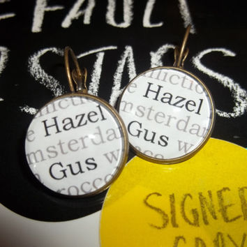 The Fault in Our Stars 'Hazel' and 'Gus' Book Earrings and Hairclips