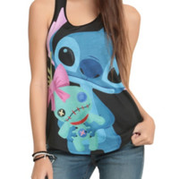 Disney Lilo & Stitch Cuddly Stitch Girls Tank Top 3XL