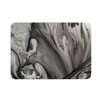 "Abstract Anarchy Design ""Inner Chaos "" Black Abstract Memory Foam Bath Mat"