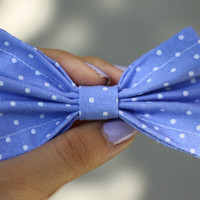 Periwinkle Dots Bow