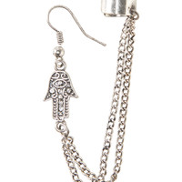 Hamsa Ear Cuff and Earring Set
