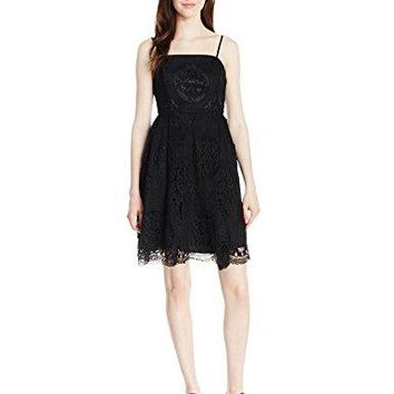 Soprano Juniors Womens Lace Strapless Skater Dress