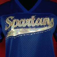 Jersey with a Sequin/Bling Spartans by CheeksLittleBoutique