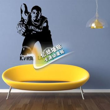 Free shipping diy vinyl basketball wall stickers The Cleveland cavaliers star Michael Owen wallpaper Children room decorative