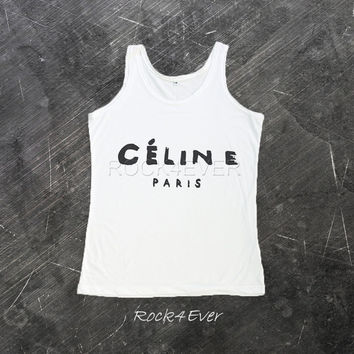 Celine Paris Shirt Tank Top T-Shirt Women T Shirts Size S M L
