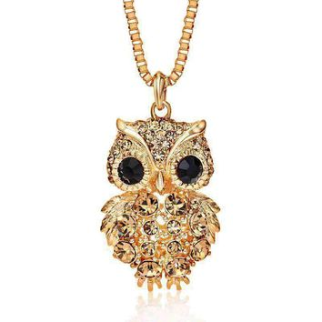 Retro Owl With Crystal Accents