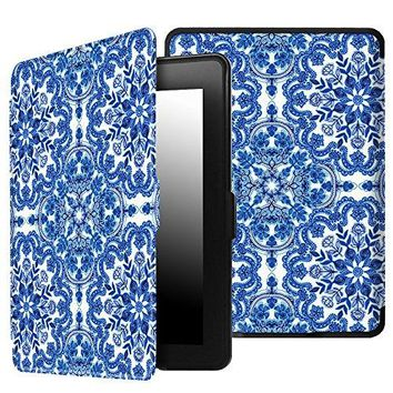 Fintie SmartShell Case for Kindle Paperwhite - The Thinnest and Lightest Cover with Auto Sleep/Wake for All-New Amazon Kindle Paperwhite (Fits All 2012, 2013, 2015 and 2016 Versions), Cobalt Blue