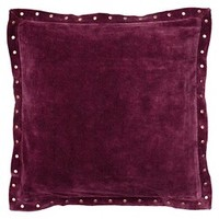 Solid Velvet Self Flange with Rivets: Target