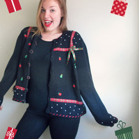 Christmas Present Bow Ugly Sweater Party