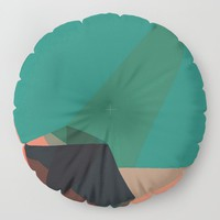 Shape Play 1 Floor Pillow by duckyb