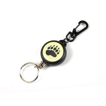 1pcs New Arrival Cute Cartoon Paw Retractable ID Card Badge Holder Reels Yoyo With Wire Rope For Keychain Key Holder Anti-lost