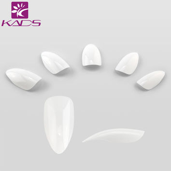 KADS 500pcs/set White & Natural & Clear Nails French Stiletto Fake Nail Tips Full Cover Acrylic Artificial False nail tips