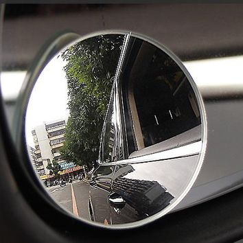 2pcs/lot 360 Degree Car mirror NO Frame  Wide Angle Round Convex Blind Spot mirror for parking Rear view mirror