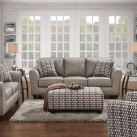 5000 - The Chic Living Room Set - Grey