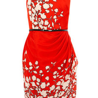 Oasis Shop | Multi Red Floral One Shoulder Dress | Womens Fashion Clothing | Oasis Stores UK
