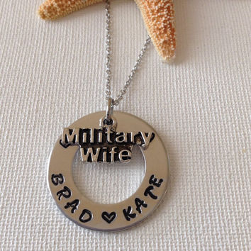 Military wife necklace, military spouse, gifts for military, mothers day, wives waiting, military jewelry, deployed.