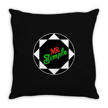 MR SIMPLE Throw Pillow