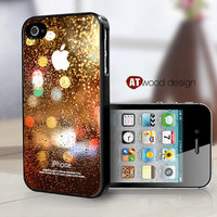 covers for the iphone black iphone 4 case iphone 4s case iphone 4 cover colorized Rain and glass design printing