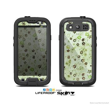 The Vintage Green Tiny Floral Skin For The Samsung Galaxy S3 LifeProof Case