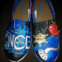 Once Upon A Time hand painted shoes