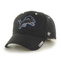NFL 47 Brand Detroit Lions Black Frost Adjustable Hat