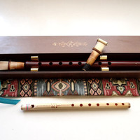 Armenia Armenian Double Reed Duduk, National Motive Case, Nice Wood Case and a Gift Flute