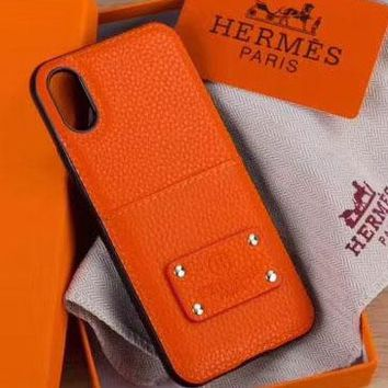 Perfect Hermès Fashion  Phone Cover Case For Samsung Galaxy s8 s8Plus s9 s9Plus note 8 iphone 6 6s 6plus 6s-plus 7 7plus 8 8plus