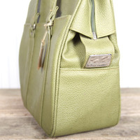 Samsonite Carry On Bag / Green Tote Bag / Olive Green Bag / Shoulder Bag / Suitcase Luggage / Travel Bag - Royal Medalist / Old Suitcase