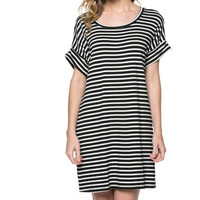 Rest and Relaxation Striped Shift Dress