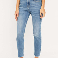 BDG Frayed Hem Girlfriend Jean - Urban Outfitters
