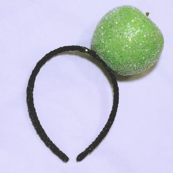 "xoCurlub ""Classic Green Apple"" Fruit Headband - Marina and the Diamonds FROOT Inspired Accessories"