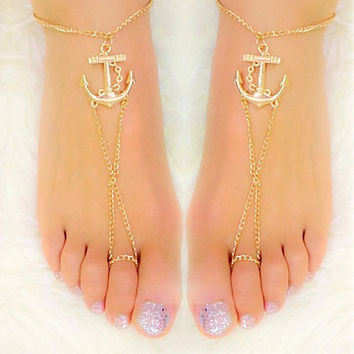 Style Anchors Anklet Ankle Chain Foot Bracelet