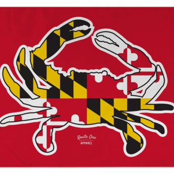 Maryland Full Flag Crab (Red) / Flag