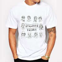 Stranger Things graphic T-shirt tees casual top SQ12017 tvi