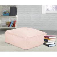 Mainstays Faux Fur Floor Pillow, Blush - Walmart.com