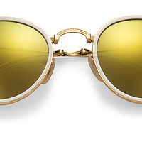 Ray-Ban RB3517 001/93 51-22 ROUND FOLDING FLASH LENSES Gold sunglasses | Official Online Store US