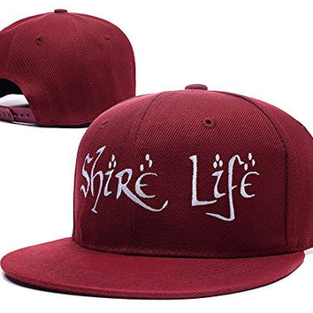 RHXING Shire Life Logo Adjustable Snapback Embroidery Hats Caps - Red