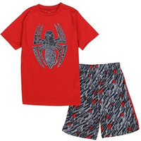 Boys Spiderman Short Set